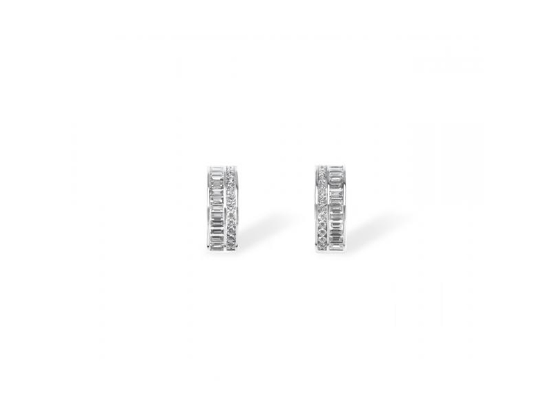 Messika Liz Hoops earrings mounted on white gold with diamonds CHF 4'730