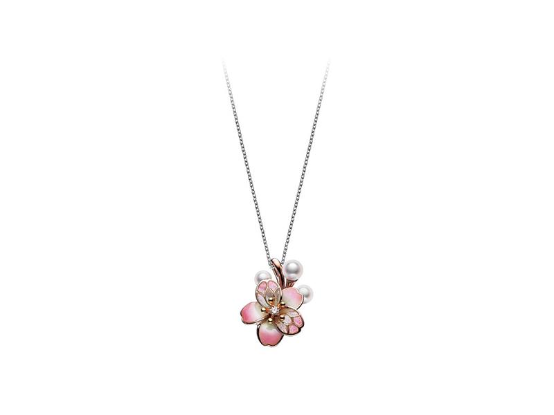 Mikimoto Cherry blossom pendant - 1700£