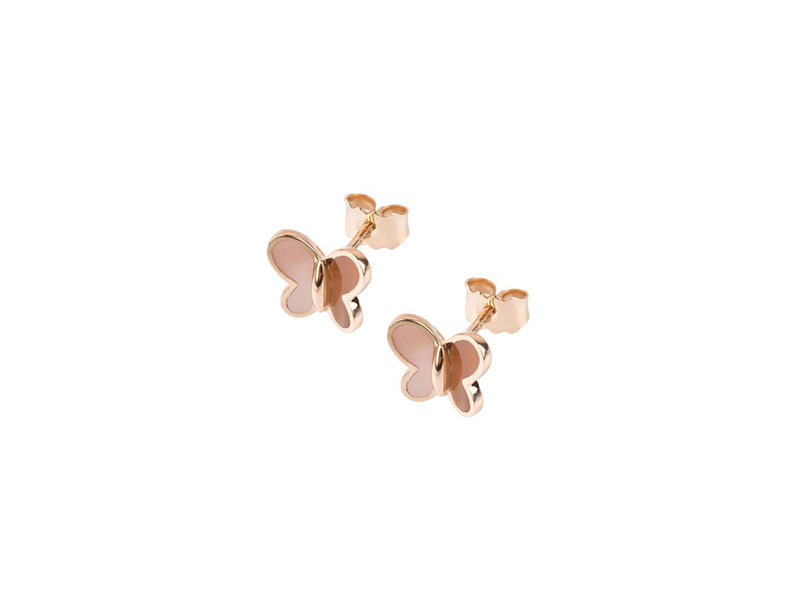 Morganne Bello Papillons earrings nacre and rose gold