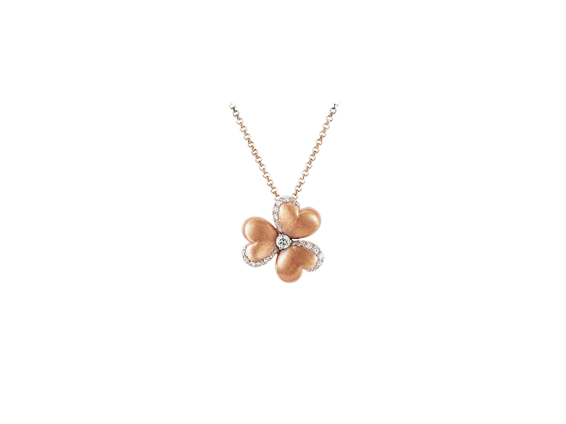 Mouawad Rose Gold Diamond Flower of Eternity Pendant