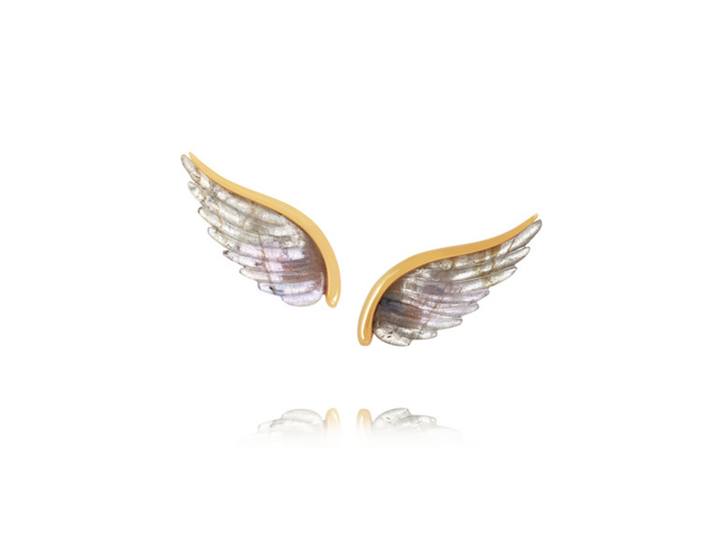 Noor Fares Yellow gold labradorite wing
