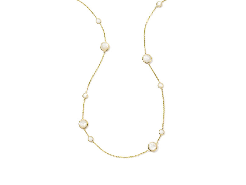 Oppolita Rock candy lollipop necklace mounted on yellow gold with mother-of-pearl 3'595 $