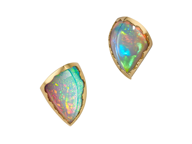 Ornella Iannuzzi Simiens mountains opal earrings lucy wonderland collection