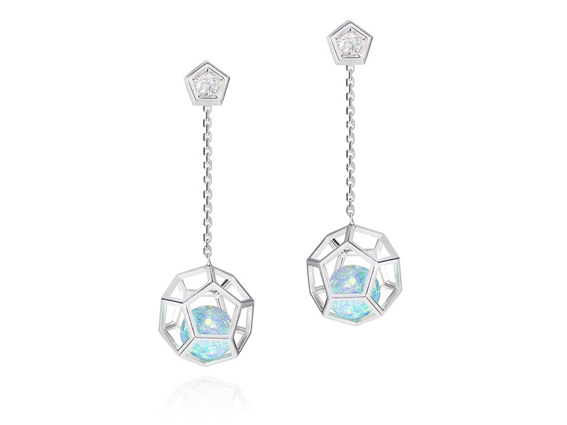 Ornella Iannuzzi white gold opal earrings 3'300£