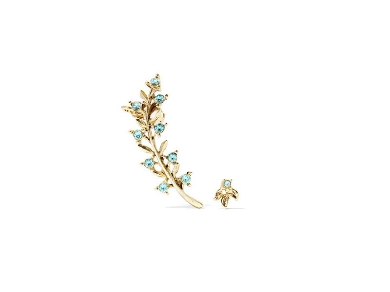Oscar de la Renta Gold plated crystal earring 172 €