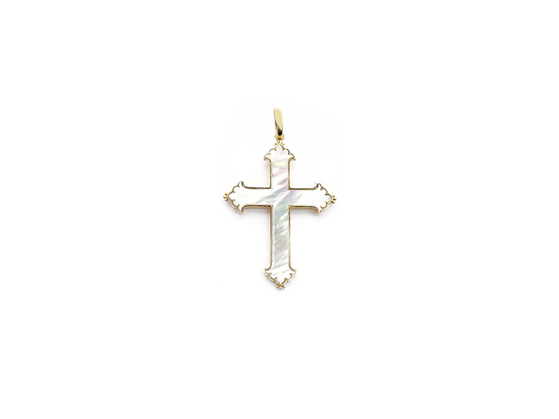 Perlota Pristine cross in yellow gold with nacre 3250 €