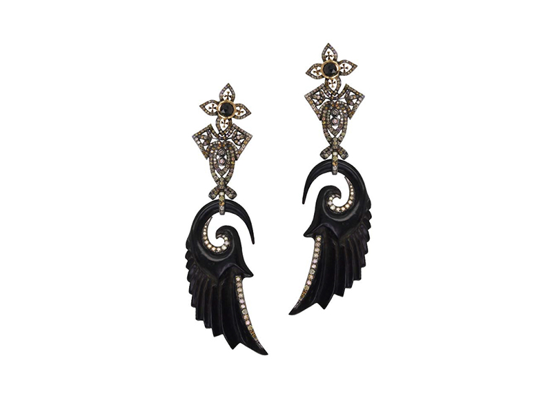 Plukka Bochic Jet Diamond Angel Wing Earrings 15450 €