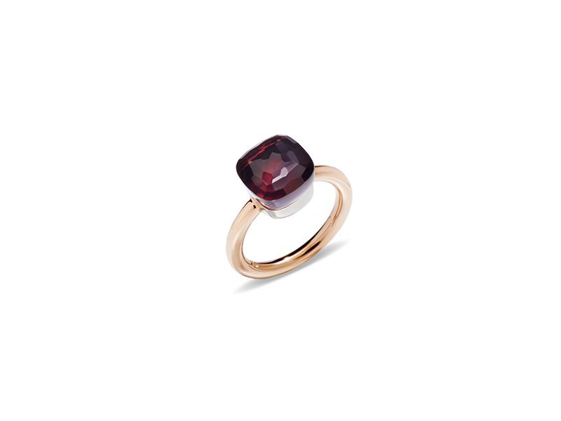Pomellato Nudo Classic Ring - grenat 1800€
