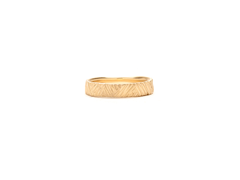 Rebecca Overmann Women's carved triangle line band 575 $