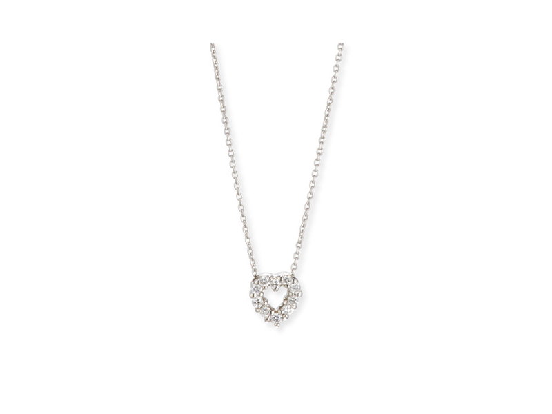 Roberto Coin Diamond heart pendant necklace mounted on white gold with diamonds - CHF 660