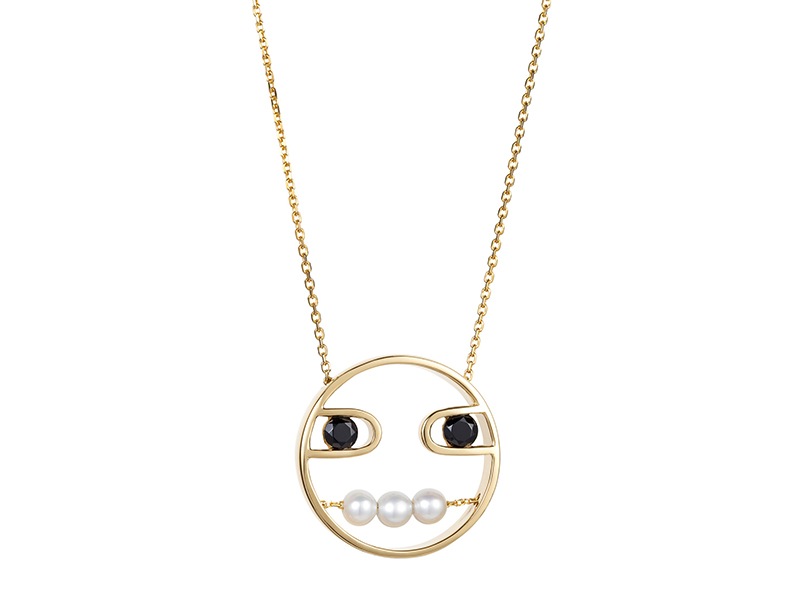 Ruifier Paola pendant mounted on yellow gold with white pearls 1'485£