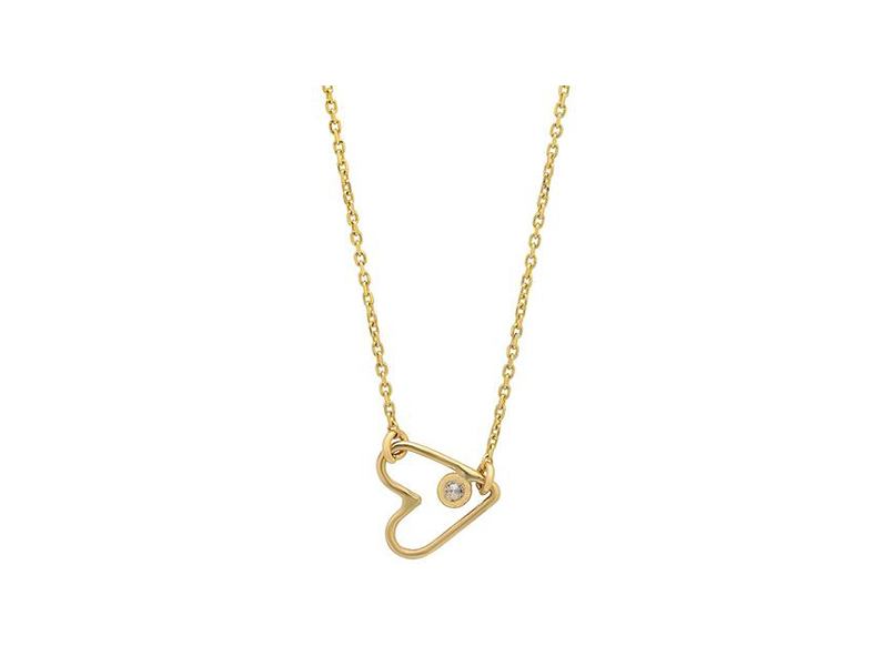 Sachi Open heart necklace mounted on gold - 160 $