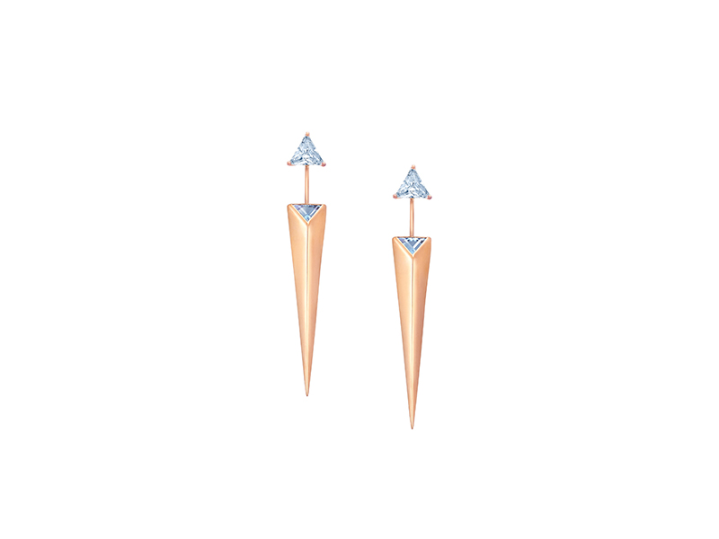 Sammie Jo Coxon Pluvia earrings rose gold aquamarine 4960 £