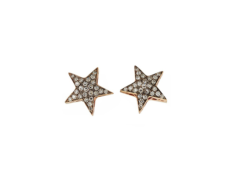 Selim Mouzannar Diamonds pink gold earrings