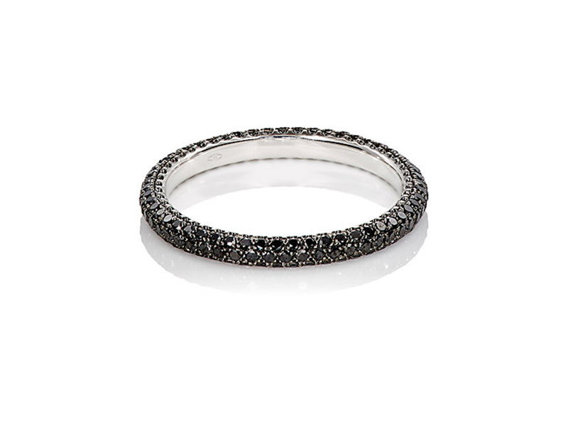 Sidney Garber Black diamond thread ring mounted on white gold 2'900 $