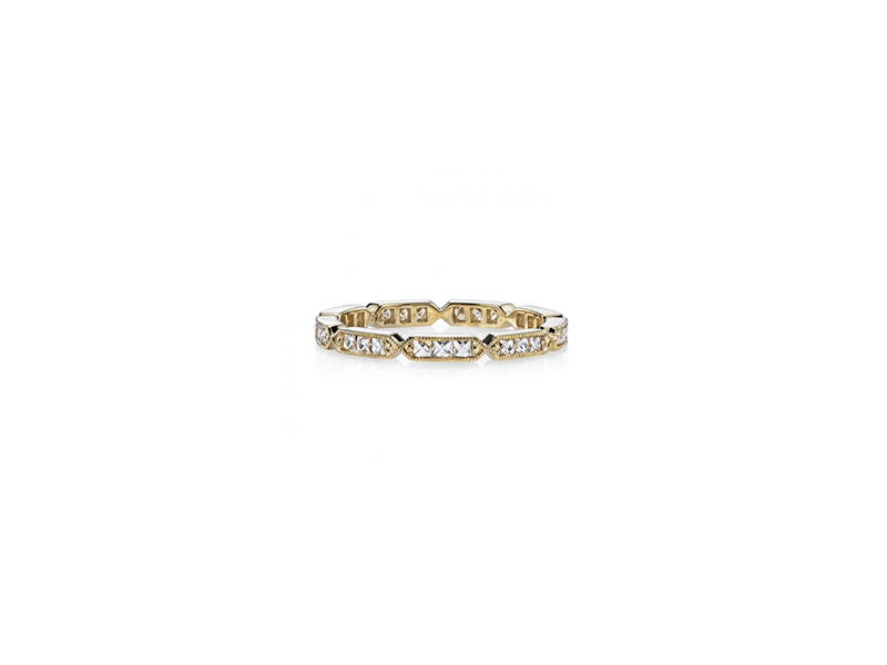 Single Stone Olivia ring mounted on yellow gold with diamonds 4800 $