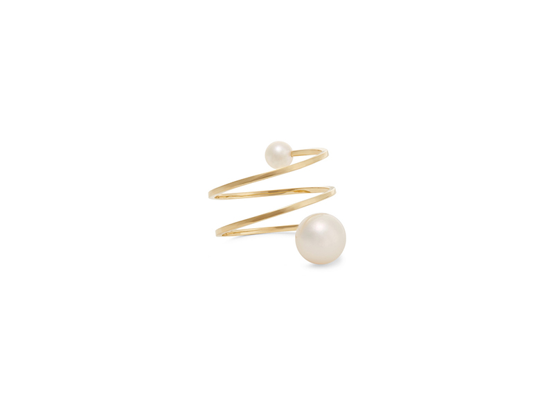 Sophie Bille Brahe Louise Grand ring 14 karat yellow gold with pearls 937 €