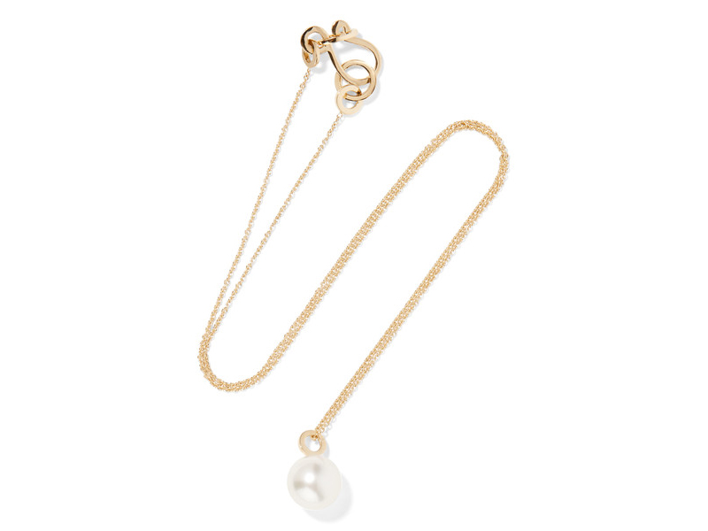 Sophie Bille Brahe Pearl simple necklace mounted on gold 633 €