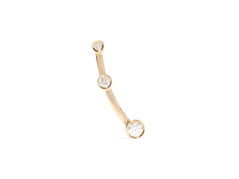 Sophie Brille Brahe Gold diamond ear cuff 1296€