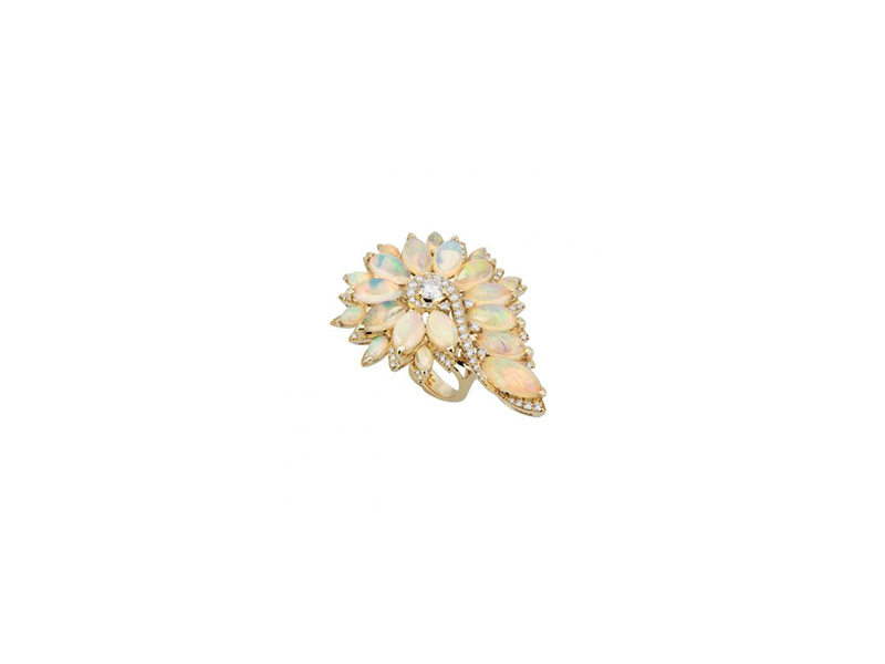 Stephen Webster Magnipheasant feathers cocktail ring yellow gold 19'400 £