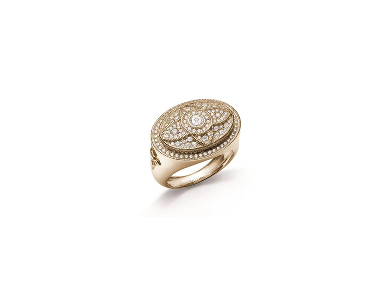 Stone Royal affaire ring in yellow gold and diamonds 6850 €