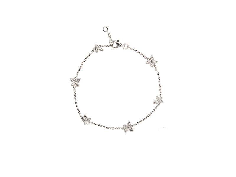 Stone White gold and white diamonds whisper lovely bracelet - 1760 €