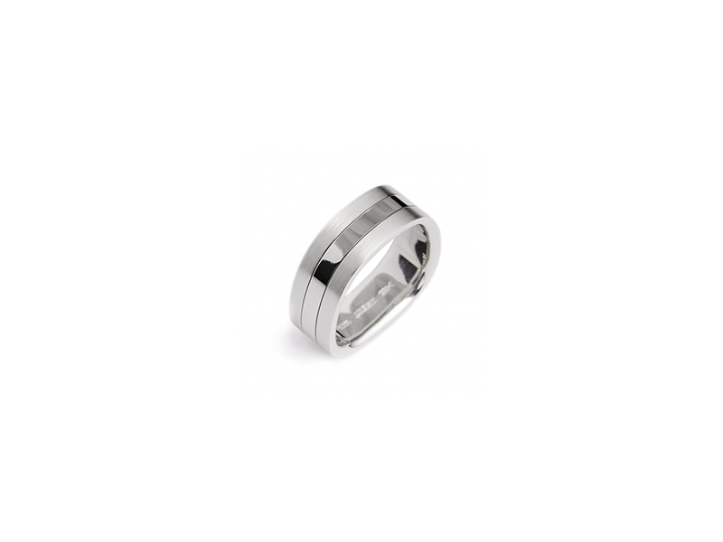 Stuart Moore The Stuart Moore collection triband ring mounted on platinum 8695 $
