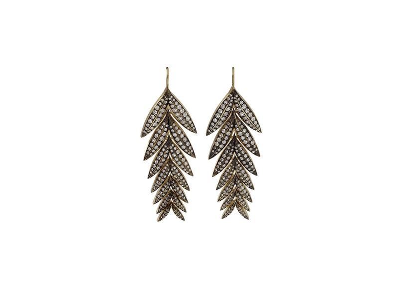 Sylva & cie Feather earrings