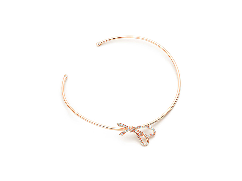 Tiffany & Co Tiffany bow mounted on rose gold with diamonds 12400 €
