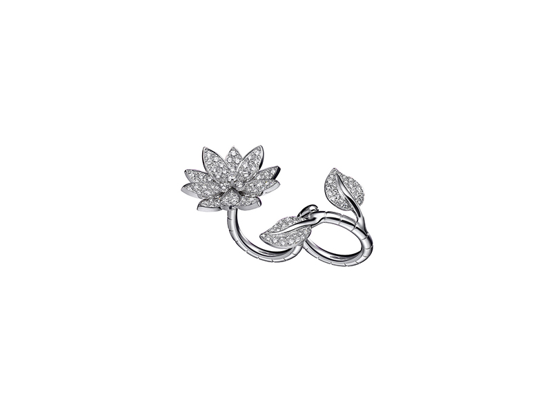 Van Cleef & Arpels Lotus Between the Finger Ring