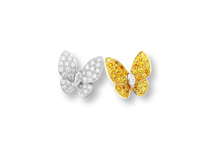 Van Cleef & Arpels   Two Butterfly Earrings