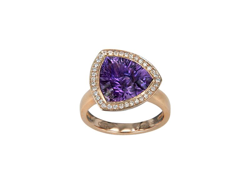 Vanessa Martinelli Dolce Vita ring pink gold amethyst 2800 chf