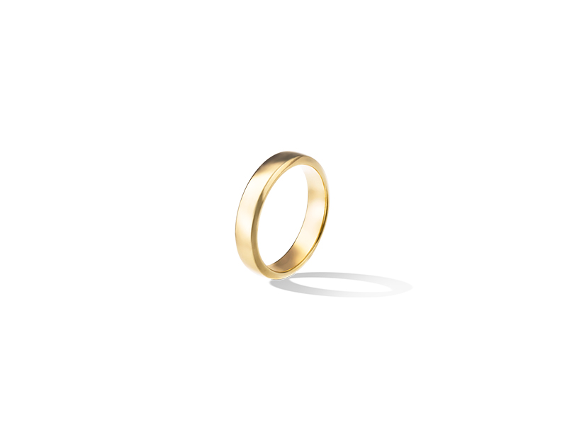 Van Clef & Arpels Toujours wedding band mounted on yellow gold