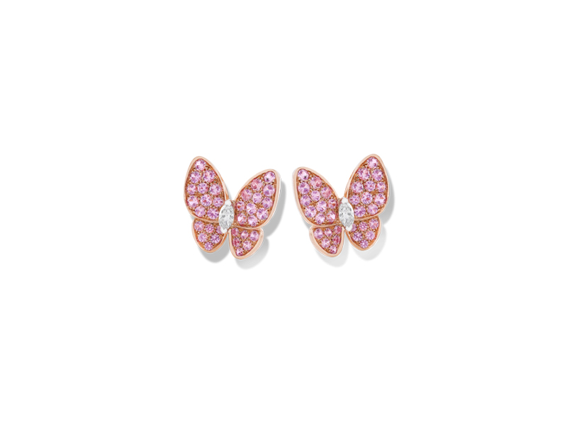 Van Clef & Arpels Two butterfly earclips