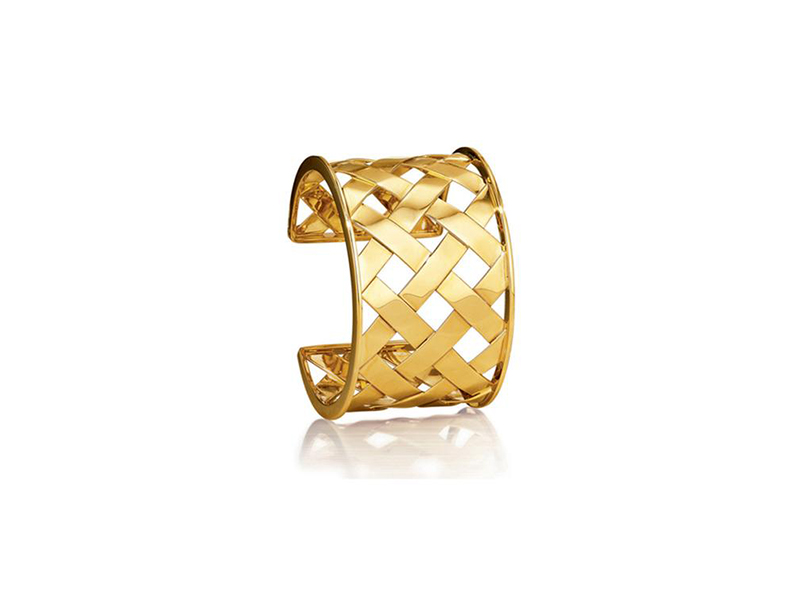 Verudra Criss cross cuff mounted on yellow gold - 17750 $