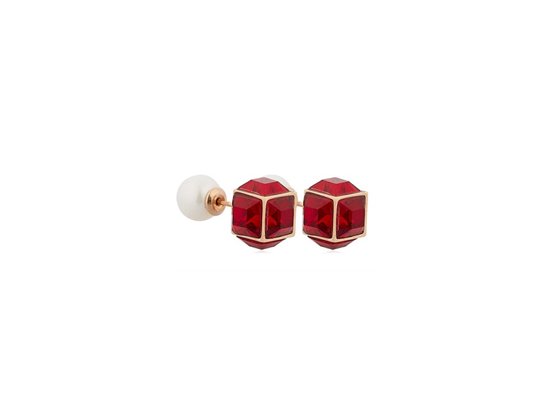 Vita Fede Double cubo gemma pearl earrings 626 £
