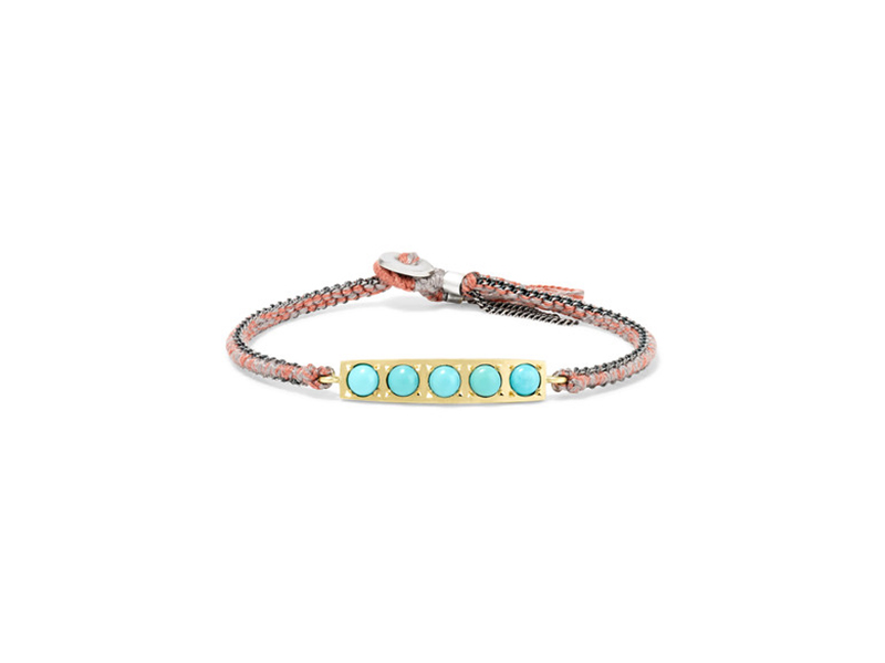 Brooke Gregson 14-Karat gold sterling silver and turquoise bracelet - 808 €