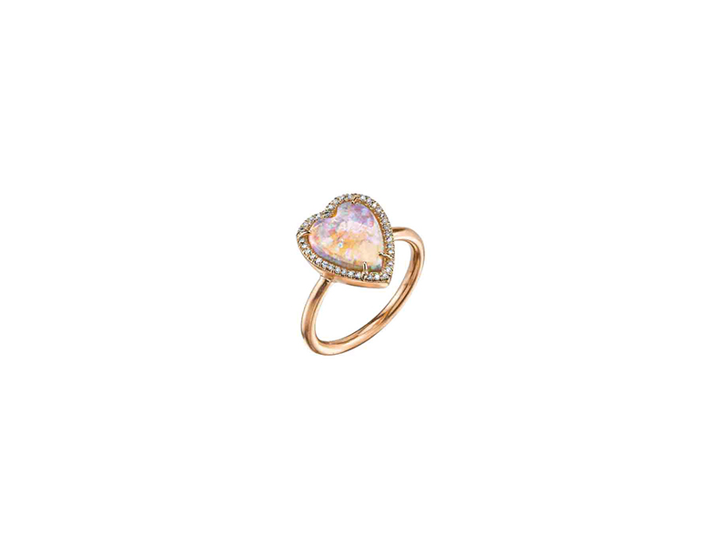 Irene Neuwirth Opal heart rose gold diamonds 8'120 $