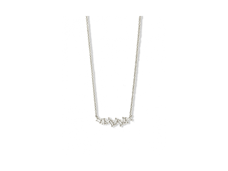 Jennifer Miller Baguette diamond necklace mounted on white gold - 1'260 $