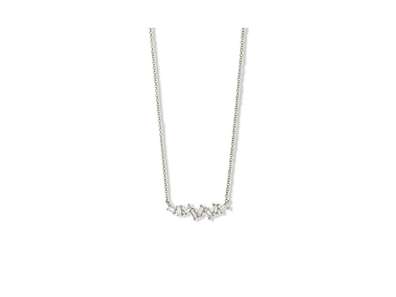Jennifer Miller Baguette diamond necklace mounted on white gold - 1'260 $