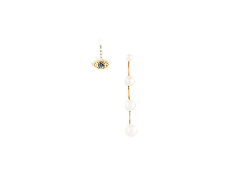 Delfina Delletrez Pearl & sapphire eye ear jackets 3'700£