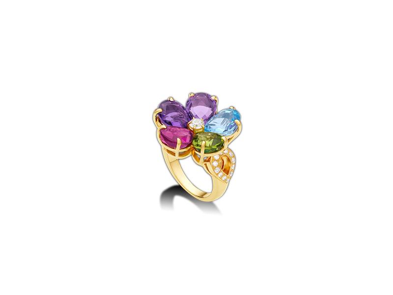 Bvlgari  Sapphire Flower Ring