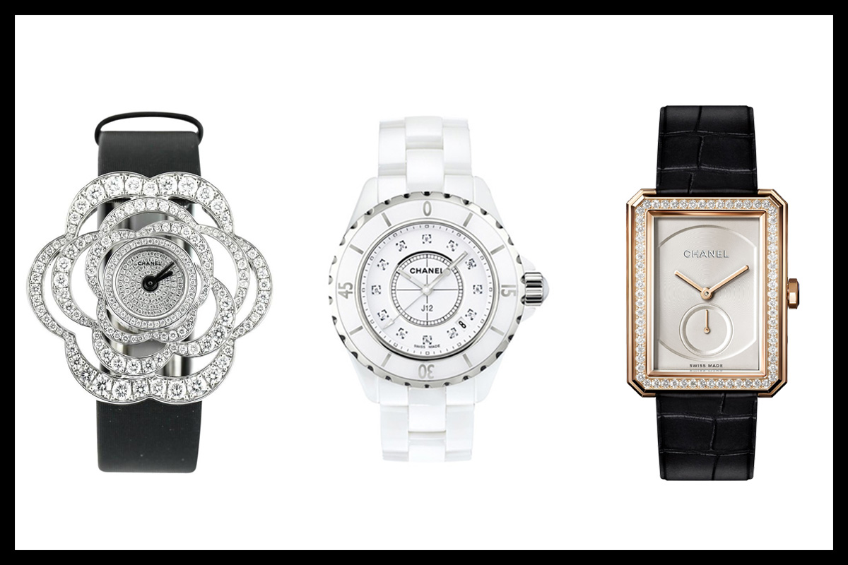 Chanel watches : Boyfriend, Chanel J12 and Fil de Camelia Watch