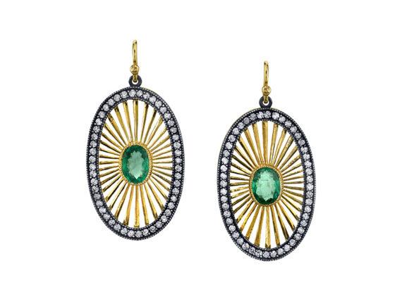 Arman Sarkisyan - Deco emerald earrings