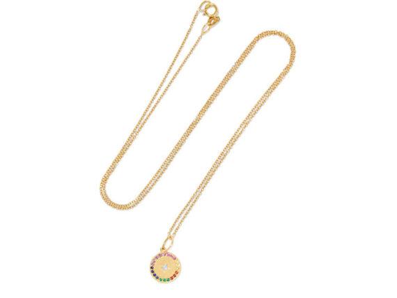 Andrea Fohrman Full moon gold multi-stone necklace