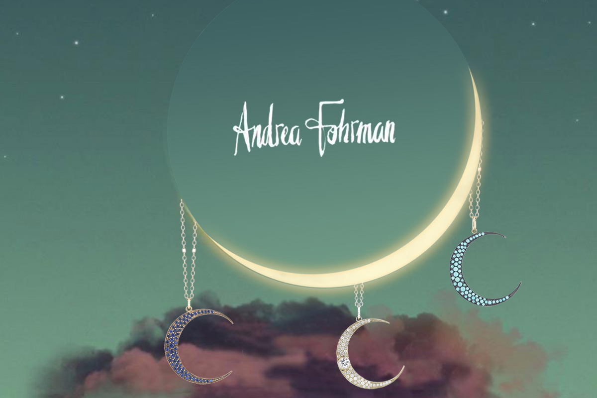 Welcome to Andrea Fohrman's jewelry galaxy: an enchanting and colorful world of moons, stars and celestial bodies.