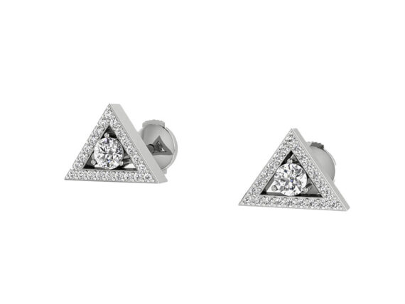 Innocent Stone - Earrings studs in white gold and diamonds