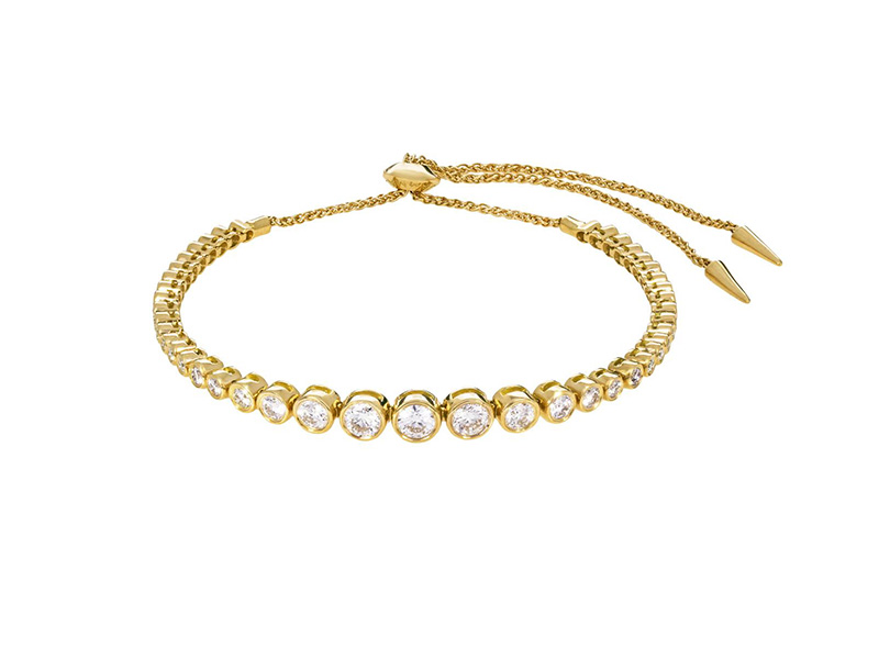 Jemma Wynne Prive Luxe diamond slider bracelet yellow gold
