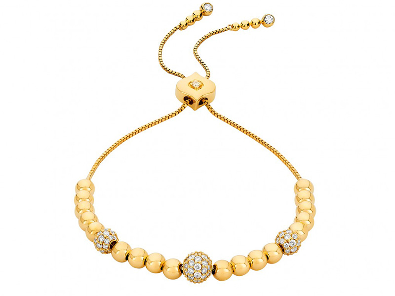 Sara Weinstock Isadora Cali Bolo bracelet yellow gold diamonds