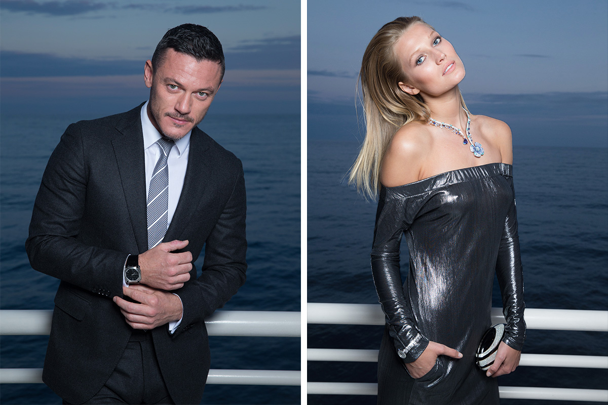 Men and women wearing bvlgari
